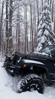 snowy jeep rubicon