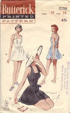 A Few Threads Loose: Sew Expensive... Butterick 5758 Bathing Suit Pattern