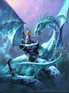 Il drago di ghiaccio - Paolo Barbieri Art