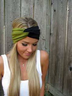 Vintage Turban Style Stretch Jersey Knit Headband - Build A Turban - Mix & Match on Luulla .