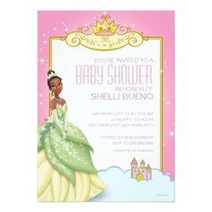 Disney Girl's Birthday Party Disney Princess Tiana It's a Girl Baby Shower Card