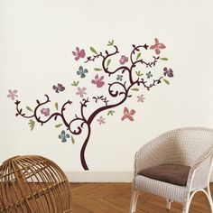 this would be so cute in the girls room with owls pinned on the branches
