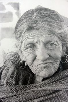 "Drawing by Paul Cadden titled ""India"". The hyperrealist artist creates hand drawn images that look like black and white photographs. (Paul Cadden / Solent News / Rex Features) Paul Cadden, Realistic Pencil Drawings, Graphite Drawings, Art Drawings, Chalk Drawings, Detailed Drawings, Realistic Paintings, Drawing Faces, Graphite Art"