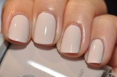 Orly Pure Porcelain These nails look so nice short and clean.