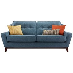 G Plan Vintage The Fifty Three Small Sofa, Fleck Blue ~ John Lewis