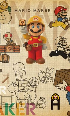 "Super Mario Maker [Wii U] -- ""Nintendo has made Mario games for decades. Super Mario World, Super Mario Bros, Super Mario Games, Mario Run, Super Mario Brothers, Mario And Luigi, Nintendo World, Nintendo Sega, Nintendo Switch"