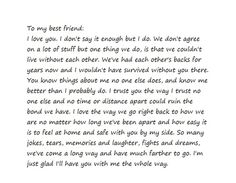 dear best friend letter tumblr - Google Search