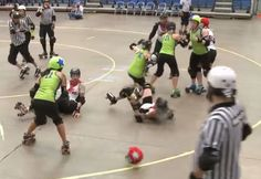 WFTDA WRONG-WAY WORRIES. RollerDerbyNotes.com  So glad Anita didn't get banged up too badly from this collision!