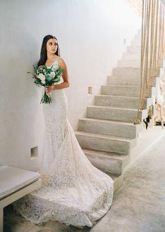 Wedding Dress: Inbal Dror - http://www.stylemepretty.com/portfolio/inbal-dror-3 Photography: Sean Cook Wedding Photography - seancookweddings.com   Read More on SMP: http://www.stylemepretty.com/destination-weddings/mexico-weddings/2016/10/07/elegant-tulum-wedding/