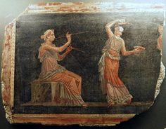 https://flic.kr/p/eBrqvP | Fragment of Fresco from the Theatre at Herculaneum, Pompejanum, idealized replica of a Roman villa, Aschaffenburg, Germany