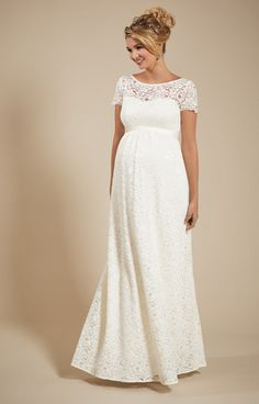 b53e82b1053 Penelope Lace Maternity Wedding Gown Ivory - Maternity Wedding Dresses