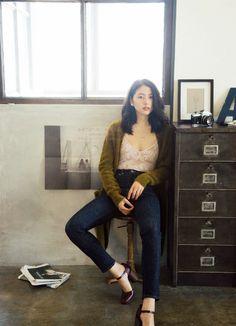 Pin by 田三郎 on タレント in 2020 Fashion Pants, Girl Fashion, Fashion Outfits, Womens Fashion, Japanese Beauty, Asian Beauty, Petty Girl, Asian Lingerie, Portraits