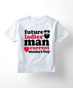 This White 'Future Ladies Man' Tee - Toddler & Boys is perfect! #zulilyfinds