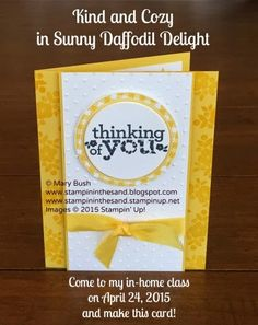 Stampin up kind and cozy stamp set thinking of you sympathy card. crafting