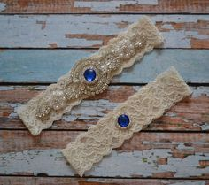 Wedding Garter, Wedding Garter Set, Royal Blue Rhinestone and Pearl Garter Belt, Rhinestone & Pearl Bridal Garter Set, Vintage Style, B44 by SpecialTouchBridal on Etsy