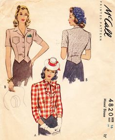 Finished: inspired by Debi 1942 McCall blouse | by gum, by golly!