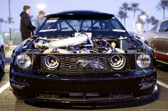 Twin Turbo Mustang anyone? Street Outlaws, Dream Car Garage, Drag Cars, Ford Motor Company, American Muscle Cars, Twin Turbo, Car Humor, Sexy Cars, Drag Racing