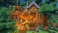 Minecraft Mountain House, Minecraft House Plans, Minecraft Mansion, Minecraft Cottage, Minecraft House Tutorials, Cute Minecraft Houses, Minecraft Room, Minecraft House Designs, Amazing Minecraft