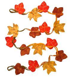 Autumn Leaves Felt Garland