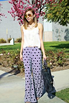 Blogger Joann (@J O Hunter Doan) takes on her next Style Challenge with blogger @Emily Schoenfeld Schoenfeld Schoenfeld Kolberg featuring these Charlotte Russe palazzo pants!