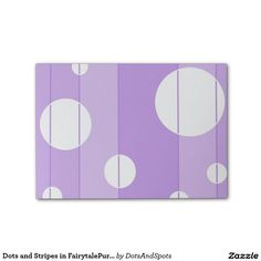 Dots and Stripes in FairytalePurple Post-it® Notes