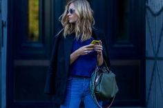 Want to look stylish and stay cozy this fall fashion season? Here's our street style fashion guide to the best sweater and jean outfit ideas now.: Sweater Coat and Ripped Jeans