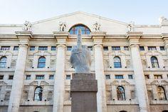 L.O.V.E. Statue in Piazza Affari
