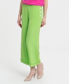 Pantalón de seda verde lima LAUREN RALPH LAUREN