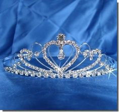 SC Bridal Wedding Tiara Crown With Crystal Heart 42205 $15.99