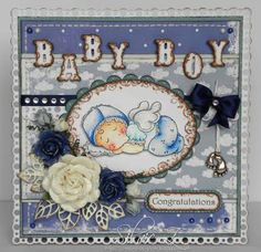 Created-By-Silvie-Z.: Baby card - TOMIC challenge #4