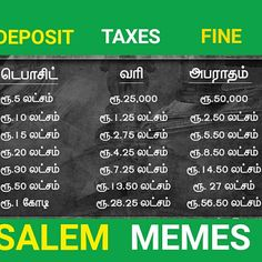 #deposit #amount #fine