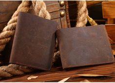 Men Wallet Vintage Top Quality Men Purse Genuine Leather Crazy Horse Wallet Brown Faux Leather Belts, Leather Shoes, Leather Bag, Man Purse, Handmade Wallets, Crazy Horse, Vintage Tops, Women Accessories, Men Wallet