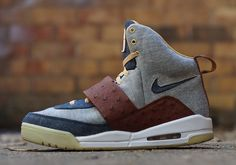 "Nike Air Yeezy ""Selvedge Denim"" by JBF Customs + www.7Filthy.com #FilthyLIFE #7Filthy #ThatsFILTHY #streetwear #sneakers #sneakerheads #seattle #urban #swagger #sneakerlife #fashion #streetfashion #urbanwear #summer #summertime #dopeshit #sickkicks #dopekicks #basketball #shoes"