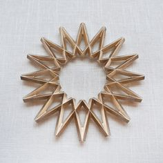 """Galaxy"" Brass Trivet"