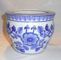 Chinese Antique Blue/White Porcelain Incense Burner Bowl
