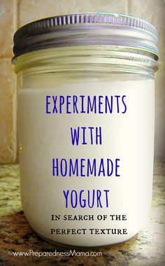 with Homemade Slow Cooker Yogurt Experiments with Homemade Yogurt - In quest fo the perfect batch Yogurt Recipes, Milk Recipes, Canning Recipes, Whole Food Recipes, Whey Recipes, Recipies, Dairy Recipes, Homemade Cheese, Homemade Yogurt