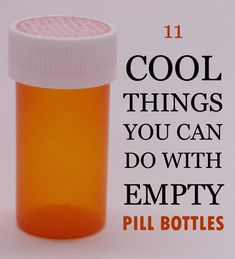 11 Cool Things You Can Do With Empty Pill Bottles is part of Upcycled Crafts Reuse Pill Bottles - If you're like me and have a few empty pill bottles lying around, then this list of 11 DIY uses for empty pill bottles is for you! Empty Medicine Bottles, Medicine Bottle Crafts, Reuse Pill Bottles, Pill Bottle Crafts, Empty Bottles, Recycled Bottles, Plastic Jar Crafts, Plastic Bottle Reuse, Plastic Jugs
