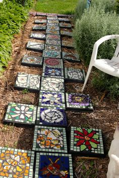 the garden junkie Mosaic garden tiles stepping stonesthe garden junkie. fill blank spaces with solid tile or low ground cover.Diy mosaic decorations to inspire your own garden 23 ⋆ Main Dekor Networkthe garden junkie. crystal stone tile Gone are the day Decorative Stepping Stones, Mosaic Stepping Stones, Pebble Mosaic, Stone Mosaic, Mosaic Glass, Stepping Stones Kids, Mosaic Walkway, Paver Stones, Stone Tiles
