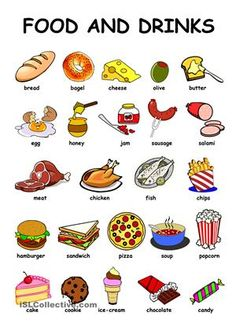 Food Drinks - English ESL Worksheets for distance learning and physical classrooms Learning English For Kids, Teaching English Grammar, English Lessons For Kids, Kids English, English Vocabulary Words, Learn English Words, English Language Learning, English Food, French Language