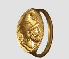 A Greek gold seal ring, 4th century B.C.