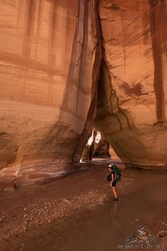 Buckskin is very narrow with deeper water and has a lot more obstacles than the Paria Narrows, so most people explore Buckskin on day hikes without big backpacks on. Hiking Places, Hiking Spots, Paria Canyon, Best Hiking Gear, Usa Holidays, Starry Night Sky, Day Hike, Big Backpacks, Backpacking