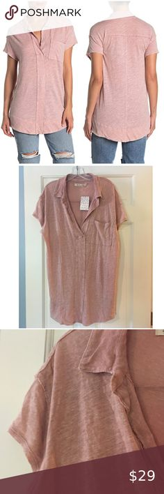 Free People NWT Rory Tunic Top Painted White Medium// Large M//L New