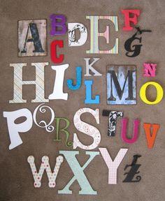 Alphabet Nursery or Playroom decor