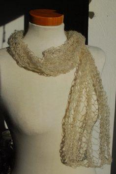 Weiteres - Zarter Lace Schal aus Mohair - creme - ein Designerstück von HansensGasse bei DaWanda