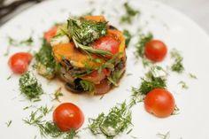 Салат из овощей-гриль с рукколой и тыквой