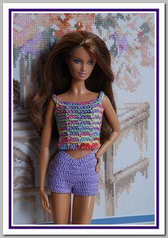 Barbie basics Summer Crochet Dress by JanCrocheted                                                                                                                                                                                 Mehr