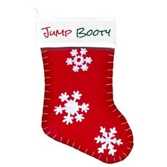"""What skydiver wouldn't love receiving a little extra booty this holiday season? This festive """"jump boot"""" is perfect for stuffing with special skydiving doodads. Booty-ful!"""