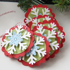 Snowflake Christmas Tags or Package Labels . Aqua by scrapbits
