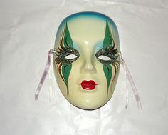 Porcelain Masks Decoration Extraordinary Mardi Gras Porcelain Masks Wall  Ins Pired Mask Ceramic Masks Decorating Design