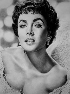 Elizabeth Taylor - Original Drawing by Kelvin Okafor was made with Faber-Castell graphite pencils and black coloured pencil on Daler Rowney acid free smooth cartridge paper. Completed 31 May Amazing Drawings, Realistic Drawings, Amazing Art, Pencil Art, Pencil Drawings, Art Drawings, Horse Drawings, Elizabeth Taylor, Art Visage